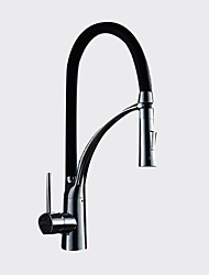 cheap -Sprinkle® Kitchen Faucets  ,  Transitional  with  Chrome Single Handle One Hole  ,  Feature  for Pull out