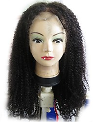 cheap -Human Hair Glueless Lace Front / Lace Front Wig Brazilian Hair Curly / Kinky Curly Wig With Baby Hair 130% Natural Hairline / Middle Part / 100% Virgin Women's Short / Medium Length / Long Human Hair
