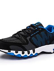 baratos -Mulheres Sapatos Tule Primavera / Outono Conforto Tênis Corrida Sem Salto Ponta Redonda Preto / Vermelho / Black / azul
