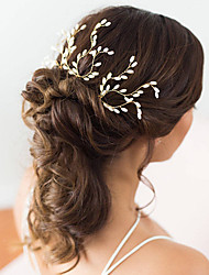 cheap -Pearl Hair Pin with Pearl 3 Wedding Party / Evening Headpiece