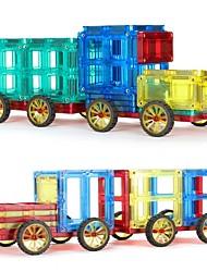 Недорогие -Магнитный конструктор / Конструкторы 60pcs Транспорт / Автомобиль трансформируемый Старинный Подарок