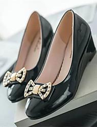 cheap -Women's Shoes PU Summer Slingback Heels Wedge Heel Round Toe Split Joint for Casual Dress Black Beige Blue