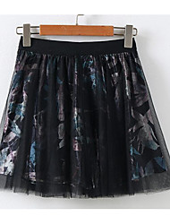 cheap -Women's Going out Vintage Pencil Skirts Print