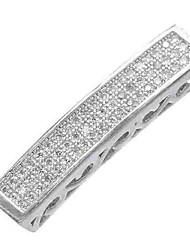 cheap -DIY Jewelry 1 pcs Beads Imitation Diamond Alloy Gold Silver Tube Shape Bead 0.5 cm DIY Necklace Bracelet