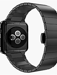 cheap -Watch Band for Apple Watch Series 3 / 2 / 1 Apple Wrist Strap Butterfly Buckle Stainless Steel