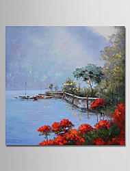 cheap -Oil Painting Hand Painted - Landscape Comtemporary Simple Modern Canvas