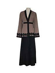 Недорогие -Мода Абайя Арабское платье Жен. Фестиваль / праздник Костюмы на Хэллоуин Серый геометрический