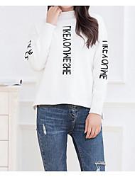 preiswerte -Damen Langarm Pullover Druck Rollkragen