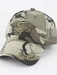 Недорогие -Муж. Для офиса Военная кепка Шляпа от солнца Бейсболка - Стильные Хлопок, Однотонный Камуфляж