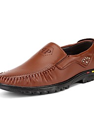 cheap -Men's Shoes Real Leather PU Leather Spring Summer Comfort Light Soles Loafers & Slip-Ons Walking Shoes Side-Draped for Casual Office &
