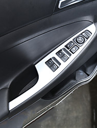Недорогие -автомобильный выключатель стеклоподъемника охватывает интерьерные двери для hyundai 2015 2016 2017 новый тусон металлический