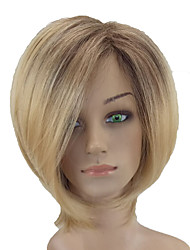 cheap -Synthetic Wig Straight Synthetic Hair Middle Part Blonde Wig Short Capless