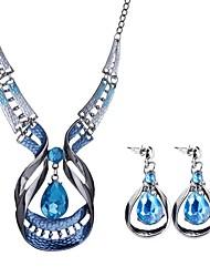abordables -Mujer Conjunto de joyas - Gota Bohemio, Europeo, Boho Incluir Azul Para Fiesta / Fiesta de Noche / Pendientes