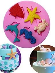 Недорогие -diy море мир различные животные силиконовые формы печенье печенье торт формы фонтан выпечки украшения инструменты