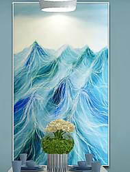 abordables -Peinture à l'huile encadrée Abstrait Peinture a l'huile Art mural, Bois Matériel Avec Cadre Décoration d'intérieur Cadre Art Intérieur