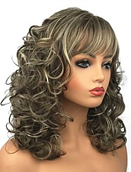 cheap -Synthetic Wig Curly Synthetic Hair Brown Wig Women's Long Capless