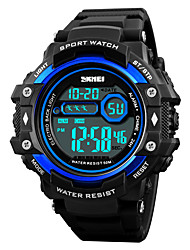cheap -SKMEI Men's Sport Watch / Wrist Watch / Digital Watch Japanese Alarm / Calendar / date / day / Chronograph PU Band Casual Black / Water Resistant / Water Proof / Stopwatch / Noctilucent / Large Dial