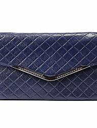 economico -Donna Sacchetti PU (Poliuretano) Pochette Tasche per Tutte le stagioni Rosso Blu scuro