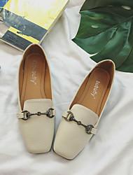 Недорогие -Жен. Обувь Полиуретан Весна / Осень Удобная обувь На плокой подошве На плоской подошве Квадратный носок Миндальный