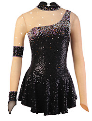 cheap -Figure Skating Dress Women's Girls' Ice Skating Dress Spandex Rhinestone Sequined High Elasticity Performance Practise Skating Wear
