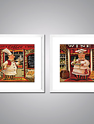 cheap -Framed Canvas Print Comtemporary, Two Panels Canvas Square Print Wall Decor Home Decoration