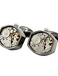 cheap -Geometric Gray Cufflinks Copper Metallic Party Gift Men's Costume Jewelry