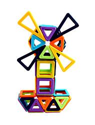 preiswerte -Magnetische Bauklötze Bausteine 60pcs Kreisförmig Quadratisch Auto Eltern-Kind-Interaktion Spielzeug Lastwagen Baustellenfahrzeuge Mädchen