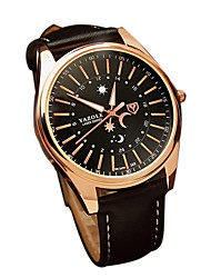preiswerte -Herrn Quartz Armbanduhr Japanisch Armbanduhren für den Alltag Echtes Leder Band Freizeit Modisch Schwarz Braun