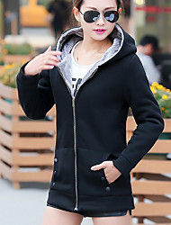 cheap -Women's Long Sleeves Cotton Hoodie - Solid, Modern Style