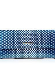 baratos -Mulheres Bolsas Couro de Gado Carteiras Bolsos para Compras Casual Todas as Estações Azul Bege Roxo