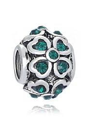 baratos -Jóias DIY 1 pçs Contas Imitações de Diamante Liga Branco Verde Redonda Bead 0.2 cm faça você mesmo Colar Pulseiras