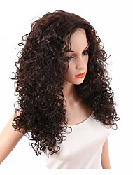 cheap -Synthetic Wig Curly / Kinky Curly Synthetic Hair Middle Part / African American Wig Brown Wig Women's Capless