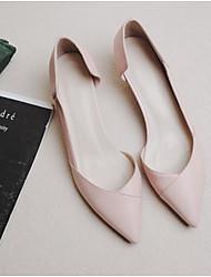 preiswerte -Damen Schuhe PU Frühling Herbst Komfort Flache Schuhe Flacher Absatz Geschlossene Spitze Spitze Zehe für Draussen Beige Rosa