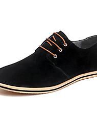 Недорогие -Муж. Обувь для вождения Кожа Весна / Лето На каждый день / Удобная обувь Туфли на шнуровке Контрастных цветов Серый / Красный / Хаки