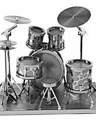 cheap -3D Puzzles Metal Puzzles Round Drum Set Jazz Drum Parent-Child Interaction Hand-made Exquisite Metal Music Contemporary Classic & Timeless