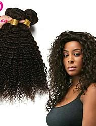 Недорогие -3 Связки Бразильские волосы Kinky Curly Не подвергавшиеся окрашиванию Человека ткет Волосы Ткет человеческих волос Расширения человеческих волос / Кудрявый вьющиеся