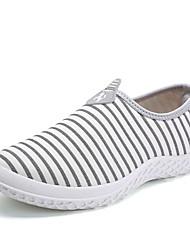 Homens sapatos Tecido Primavera Outono Conforto Mocassins e Slip-Ons para Casual Branco Preto Azul