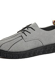 cheap -Men's Shoes Rubber Spring / Fall Comfort Oxfords Gray / Yellow / Red