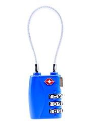 Недорогие -механический код блокировка путешествие за границей таможенный код блокировка багажная коробка три булавка навесной замок tsa719