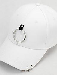 cheap -Cotton Baseball Cap, Casual Spring, Fall, Winter, Summer White Black