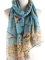preiswerte -Damen Freizeit Frühling Baumwolle Rechteck, Druck Schwarz Rote Marineblau Grau Leicht Blau