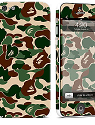 cheap -1 pc Skin Sticker for Scratch Proof Camouflage Color Pattern PVC iPhone 5c