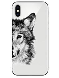 Недорогие -Кейс для Назначение Apple iPhone X / iPhone 8 Ультратонкий / Прозрачный / С узором Кейс на заднюю панель Животное Мягкий ТПУ для iPhone X / iPhone 8 Pluss / iPhone 8