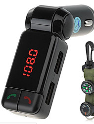 cheap -BC06 Bluetooth Handsfree Car Charger MP3 Player FM Transmitter with Compass