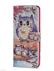 Недорогие -Кейс для Назначение SSamsung Galaxy S9 S9 Plus Бумажник для карт Кошелек со стендом Флип Магнитный Чехол Сова Твердый Кожа PU для S9 Plus
