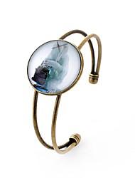 abordables -Homme Femme 1pc Manchettes Bracelets - Métallique Habillement Forme de Cercle Arc-en-ciel Bracelet Pour Soirée Sortie