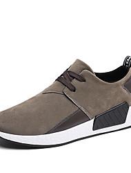 Недорогие -Муж. обувь Нубук Весна Осень Удобная обувь Спортивная обувь Для прогулок для Атлетический Черный Серый Коричневый
