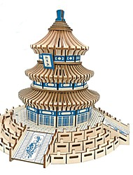 cheap -3D Puzzle Wooden Puzzle Architecture Fashion Chinese Architecture Temple of Heaven Classic Fashion New Design Professional Level Focus