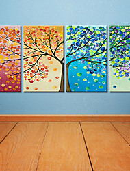 cheap -Rolled Canvas Prints Modern, Four Panels Canvas Square Print Wall Decor Home Decoration