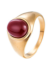 preiswerte -Herrn Bandring - Kreisform Freizeit Cool Braun Rot Dunkelgrün Ring Für Alltag Strasse